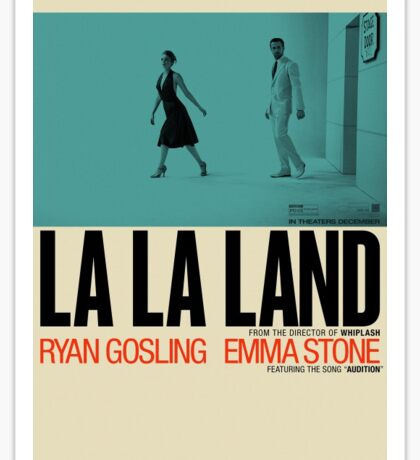 La La Land Poster Sticker