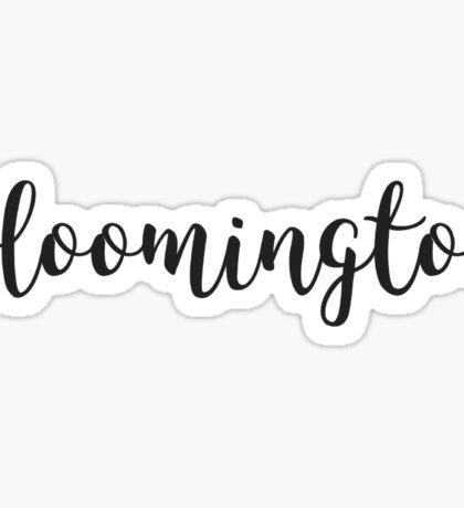 Bloomington Indiana Illinois Sticker