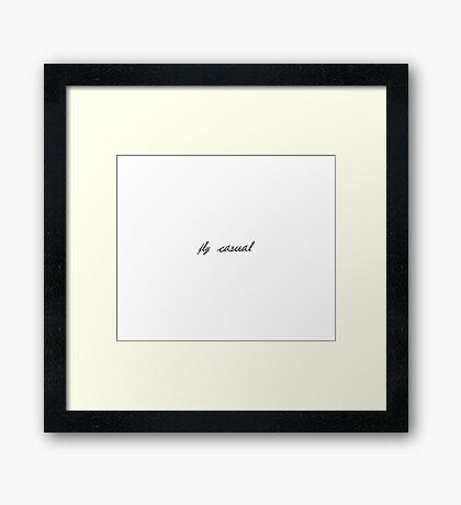 Fly Casual Framed Print