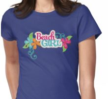 Beach Girl Womens Fitted T-Shirt