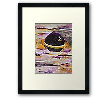 Purple Planet Abstract Framed Print
