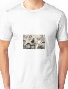 White Starfish Black and White Unisex T-Shirt
