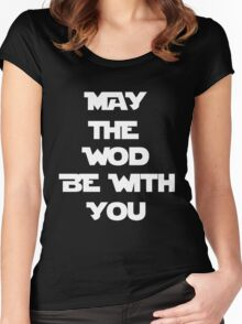 May The WOD Be With You - White Women's Fitted Scoop T-Shirt