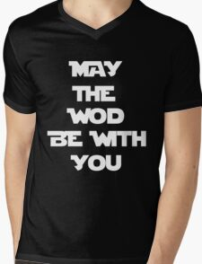 May The WOD Be With You - White Mens V-Neck T-Shirt