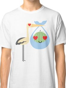Stork Watermelon Heart and Love Eye Classic T-Shirt