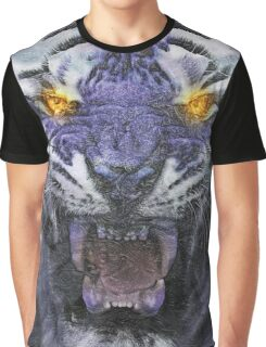 Psychedelic Tiger Poster Graphic T-Shirt