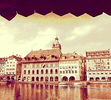 Golden Lucerne from the Kapellbrucke by PrivateVices