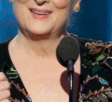 Meryl Streep Golden Globes 2017 - Flower Crown Sticker