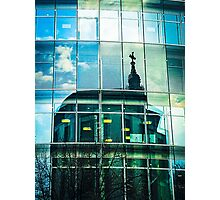 Old Reflected in New Photographic Print