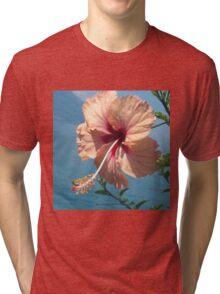 Pink Individual Flower Tri-blend T-Shirt