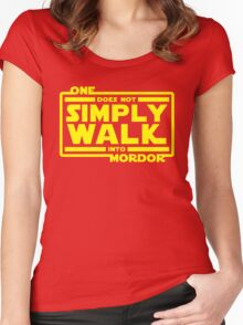 One Does Not Simply Walk Women's Fitted Scoop T-Shirt