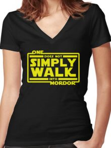 One Does Not Simply Walk Women's Fitted V-Neck T-Shirt
