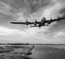 617 Squadron Dambusters training sortie B&W version by Gary Eason + Flight Artworks