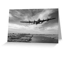 617 Squadron Dambusters training sortie B&W version Greeting Card