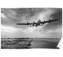 617 Squadron Dambusters training sortie B&W version Poster