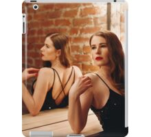 Seductive Woman in Black Dress iPad Case/Skin