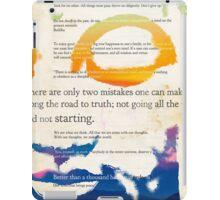 GUATAMA BUDDHA, art print, Buddha Quotes iPad Case/Skin