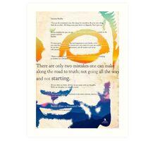 GUATAMA BUDDHA, art print, Buddha Quotes Art Print