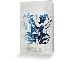 GANESHA art print Greeting Card
