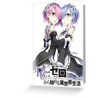 Re:Zero Rem and Ram T Greeting Card