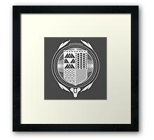 Post Proelia Praemia (Destiny) (White) Framed Print