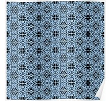 Airy Blue Star Geometric Poster
