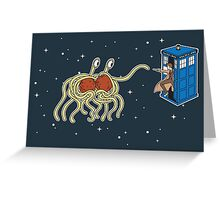 Wibbly Wobbly Noodley Woodley III Greeting Card