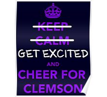 get-excited-clemson Poster