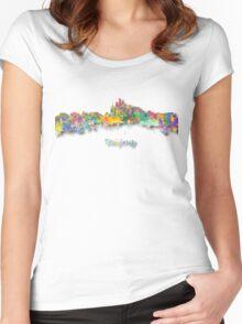 Beijing China Skyline Women's Fitted Scoop T-Shirt
