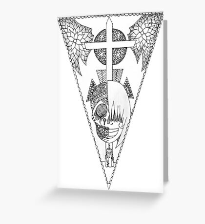 Day of the Dead/Undertale Flag Greeting Card