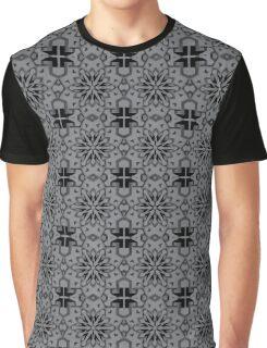 Sharkskin Star Geometric Graphic T-Shirt