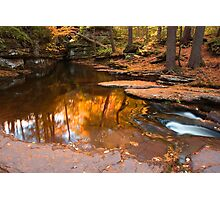 Autumn Reflection At The Top of Adams Falls Photographic Print