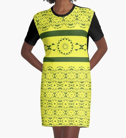 Butterfly Hearts Graphic T-Shirt Dress