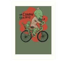 Mr. Cthulhu's Holiday Art Print