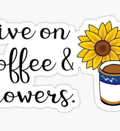 Coffee & Flowers Sticker