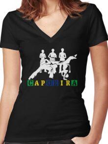 Capoeira - White Women's Fitted V-Neck T-Shirt