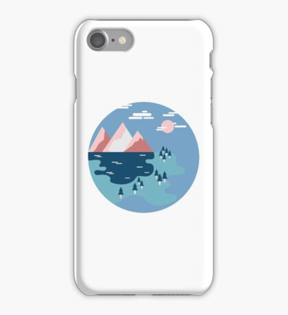Geometric Landscape (Blue Serenity) iPhone Case/Skin