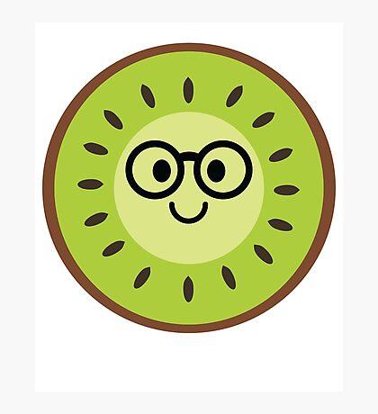 Kiwi Emoji Nerd Noob Glasses Photographic Print