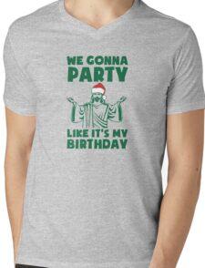 Party Like It's A Christmas Birthday Mens V-Neck T-Shirt