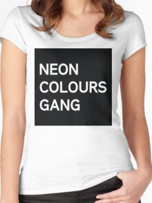 Neon Colours Gang Women's Fitted Scoop T-Shirt