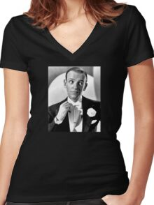 Fred Astaire Publicity Portrait Women's Fitted V-Neck T-Shirt