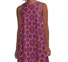 Pink Yarrow Floral A-Line Dress