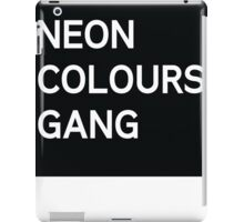 Neon Colours Gang iPad Case/Skin