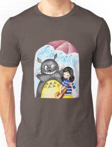 Totoro and Little Girl Unisex T-Shirt