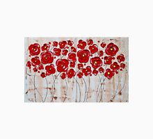 Red Poppies in the Sepia Rain Unisex T-Shirt