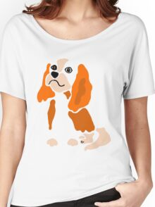 King Charles Spaniel Abstract Women's Relaxed Fit T-Shirt