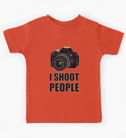 I Shoot People (Photographer) Kids Tee