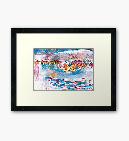 the yard after the rain Framed Print