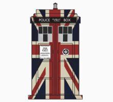 Union Jack TARDIS. Kids Clothes