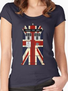 Union Jack Police Call Box. Women's Fitted Scoop T-Shirt